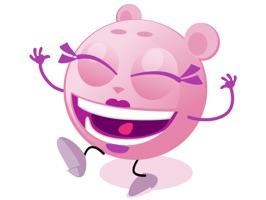 Cutie Pink - emoji stickers