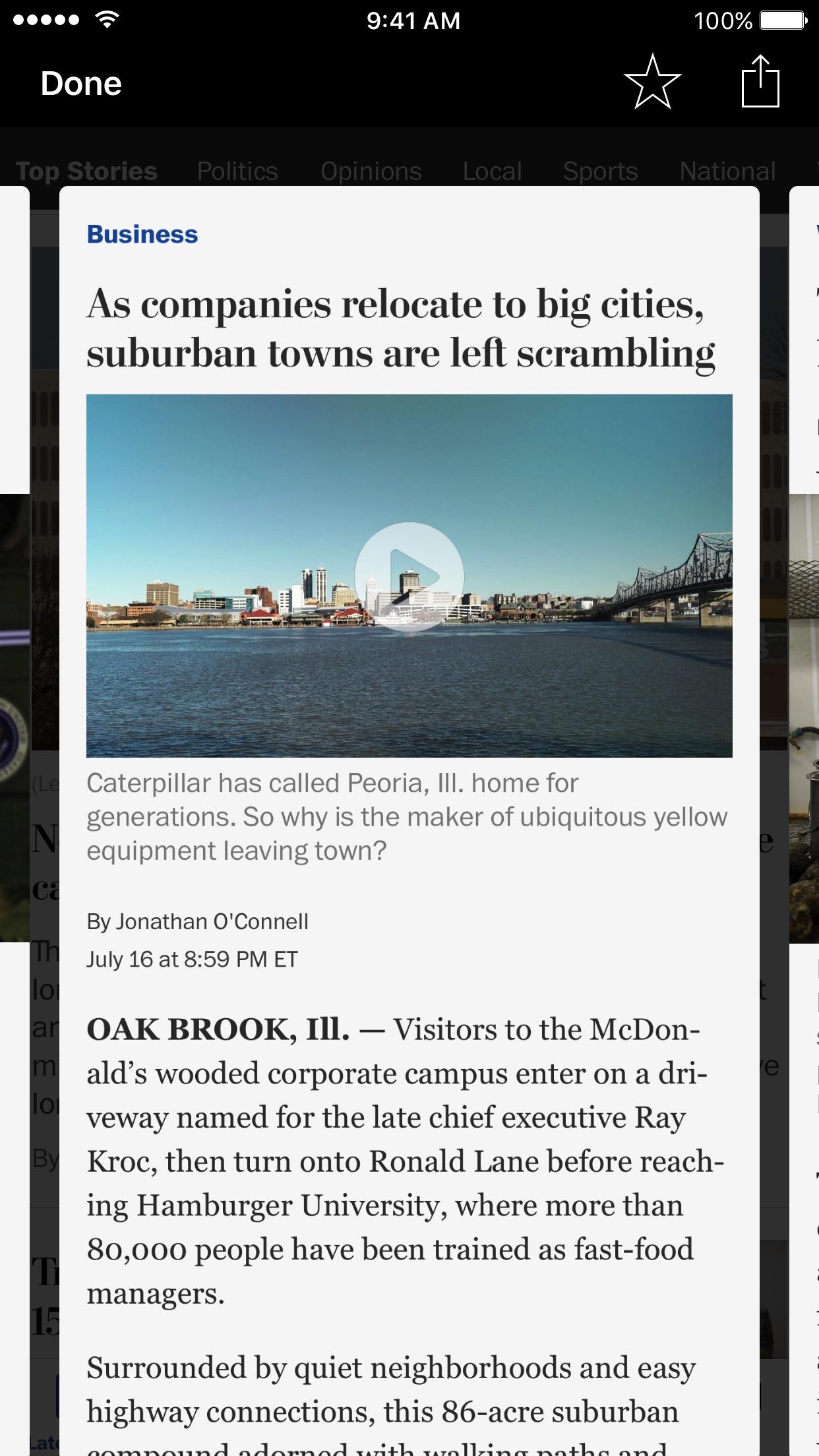 The Washington Post Classic Screenshot