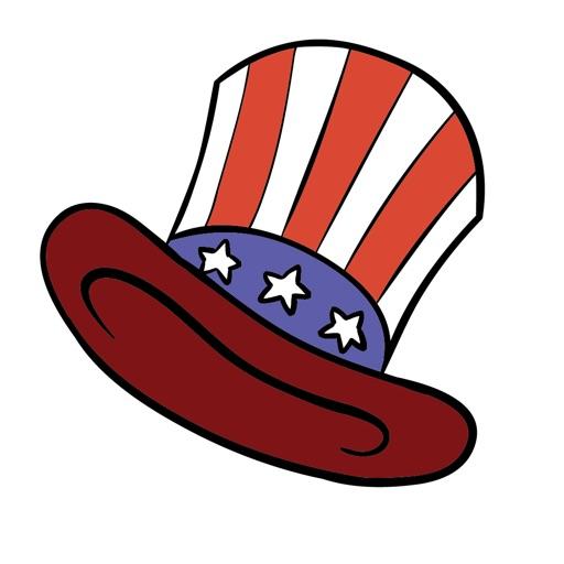 National USA Stickers