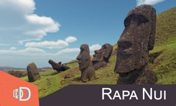 Rapanui - 3D TV: outside Rano Raraku crater in Easter Island to explore the Moais