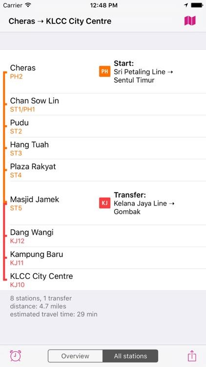 Kuala Lumpur Rail Map screenshot-3