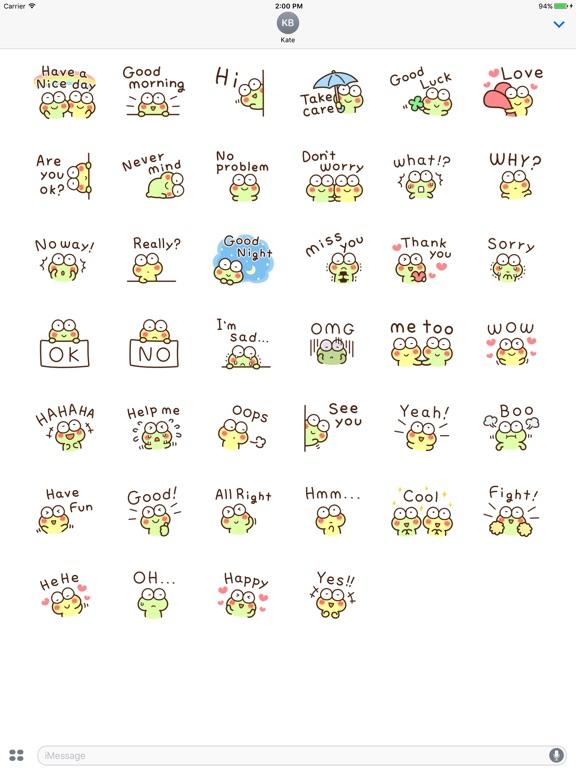 Very Cute Frog Emoji Sticker screenshot 10