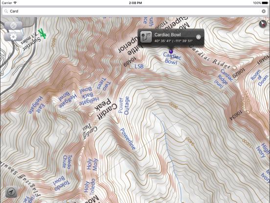 Wasatch Backcountry Skiing Map screenshot