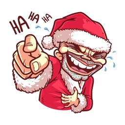 Christmas Santa - Xmas Sticker