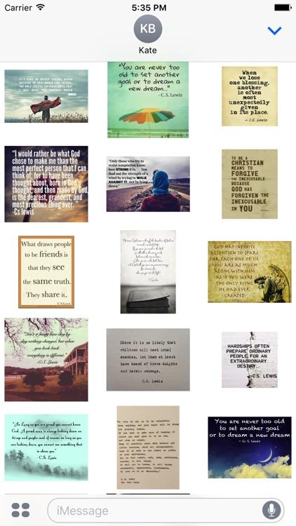 C.S. Lewis Quotes -- Inspiring Stickers