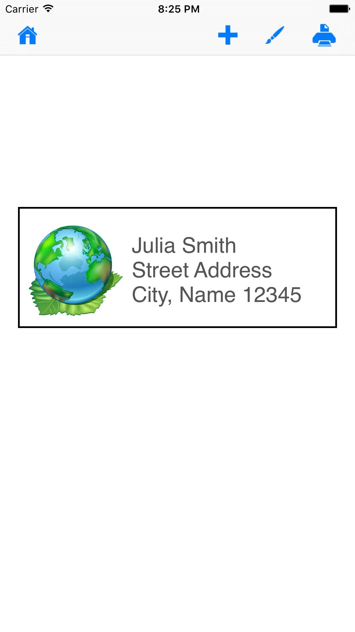 Mailing Label Designer Screenshot
