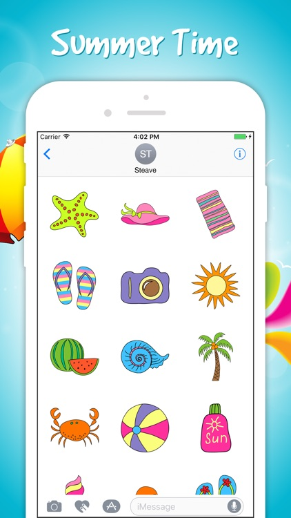 Summer Vacation Stickers Pack