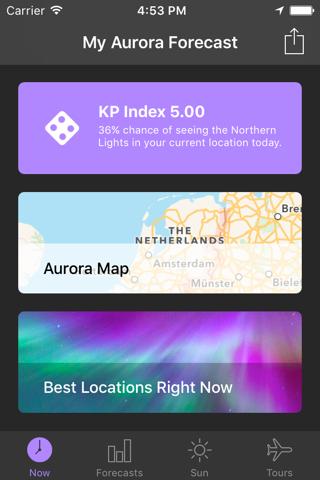 My Aurora Forecast Pro screenshot 1