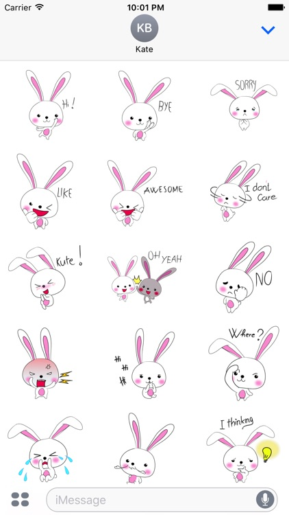 Cool rabbit sticker
