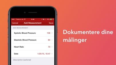 Screenshot for Blodtryksassistent in Denmark App Store