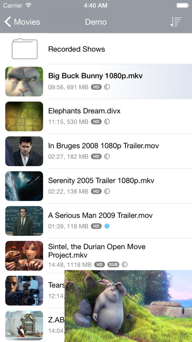 Air Video HD. Screenshot