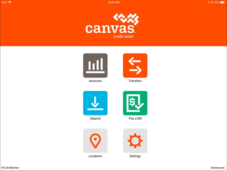 Canvas Credit Union for iPad