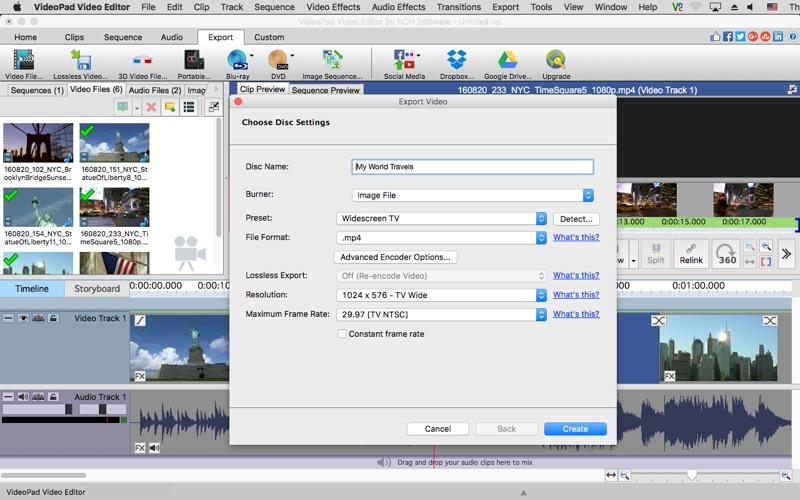 VideoPad Video Editor Screenshot 5