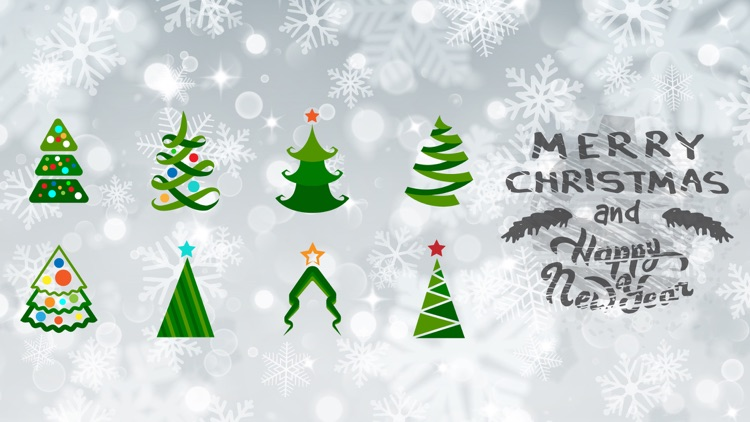 Christmas Tree Party Sticker