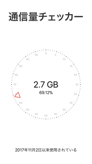 Databit: 通信量チェッカー 3G/... screenshot1