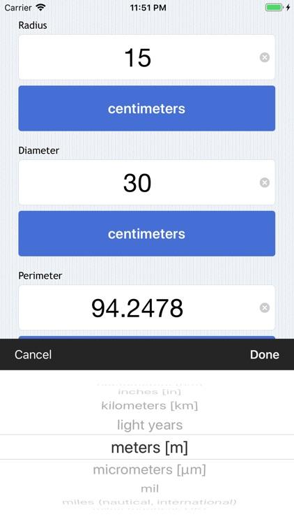 Easy Circle Calculator screenshot-3