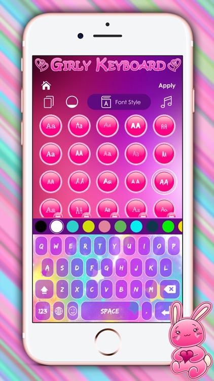 Cute Girly Keyboard Themes by Oliver Landeka