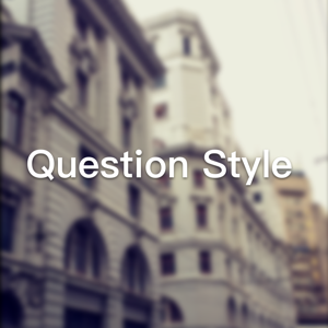 Question Style - Reference app