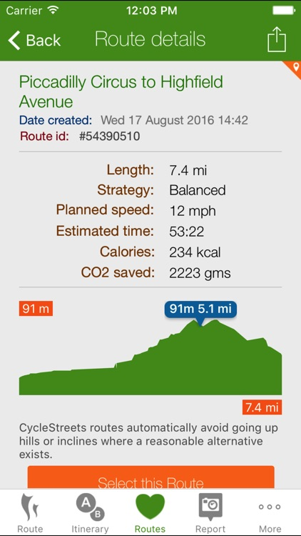 CycleStreets journey planner screenshot-1