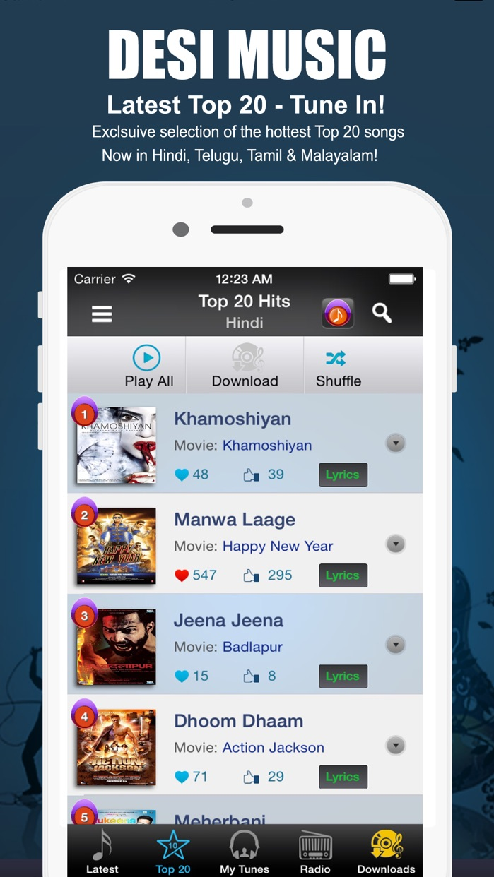 Desimusic: Hindi Songs & Radio Screenshot