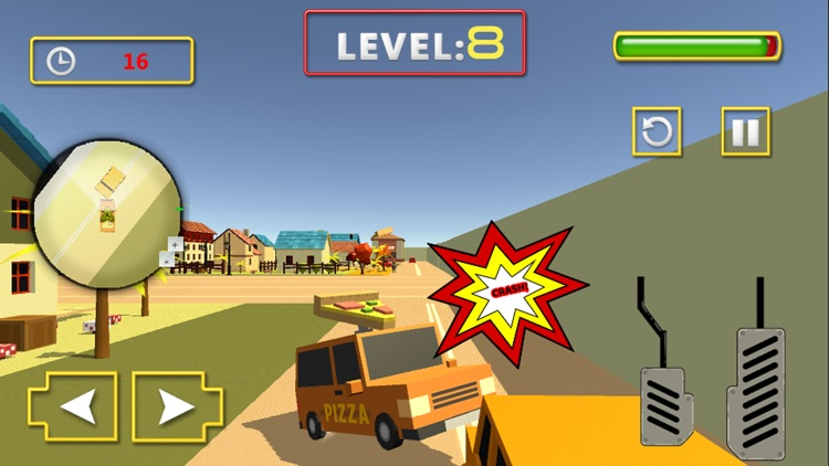 Pizza Delivery Car Sim screenshot-3