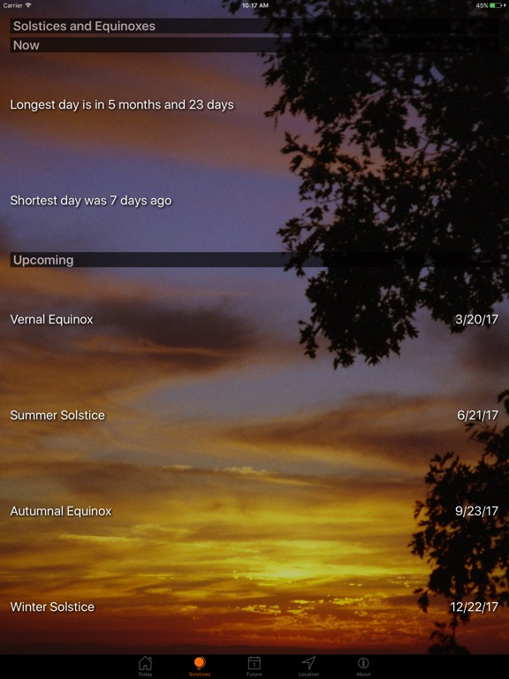 Screenshot #2 for Sunset and Sunrise Times
