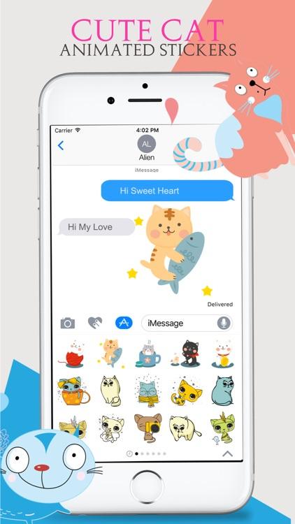 Animated Cats Moji screenshot-4