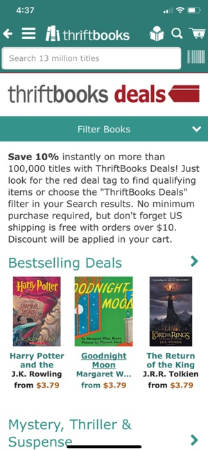 ThriftBooks: New & Used Books on the App Store