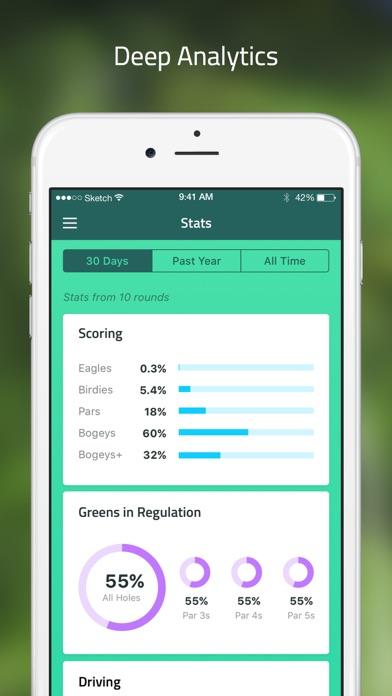 Golf GPS: scorecard range find app image