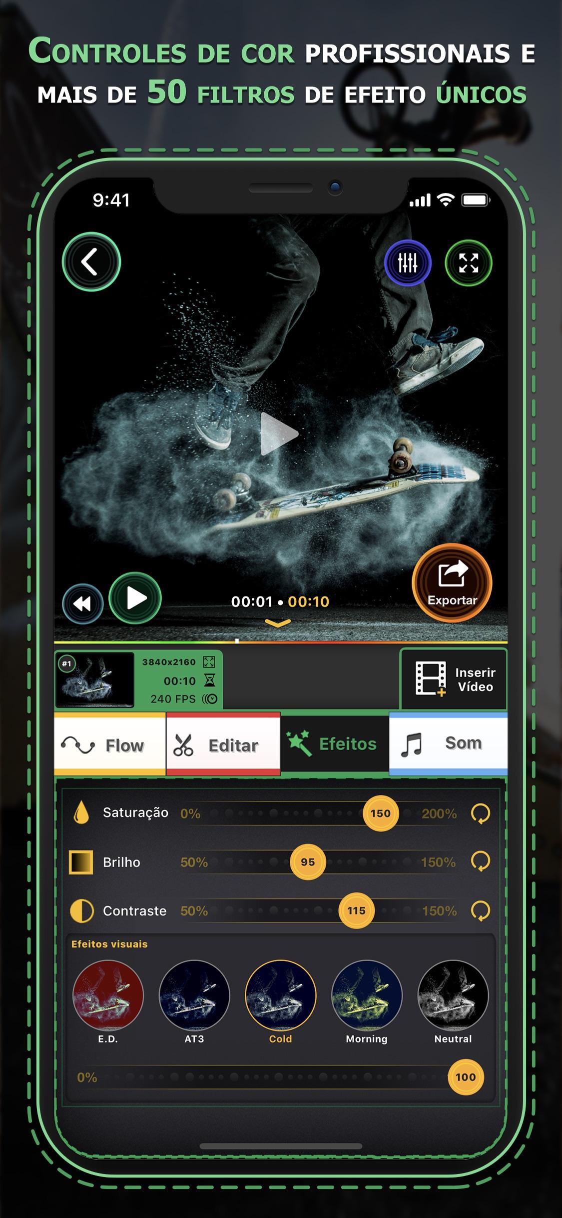 Screenshot do app Flow Speed Control Pro