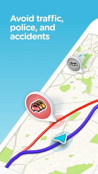 Waze social GPS traffic & gas Screenshot 1