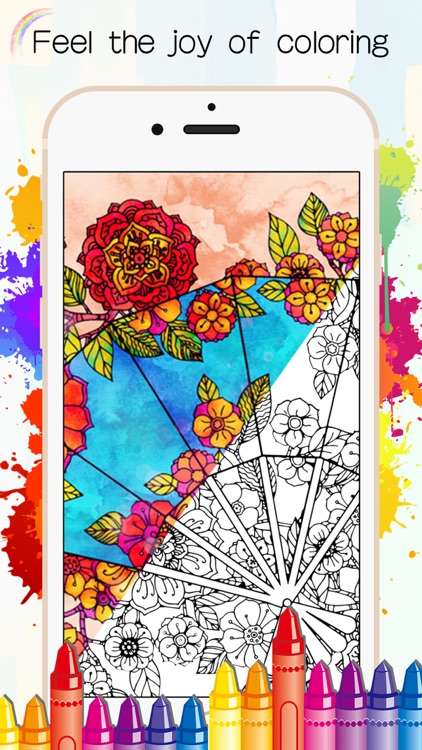 Adults Coloring Book - Color Therapy Page for Me