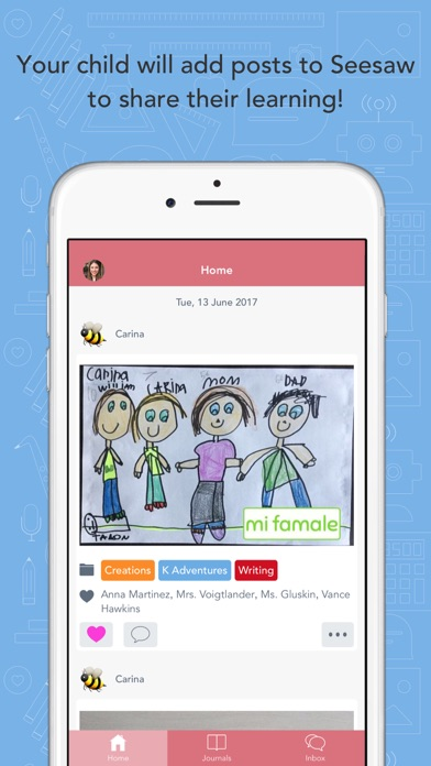 Screenshot for Seesaw Parent and Family in Australia App Store