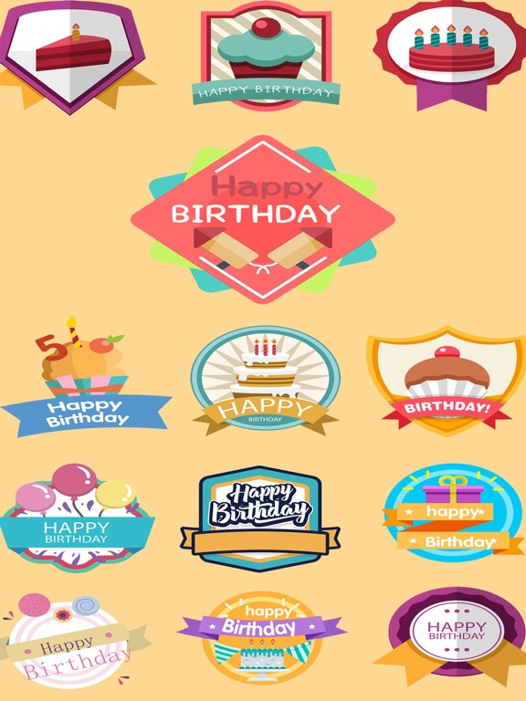Screenshot 1 For Birthday Wishes Stickers 2018