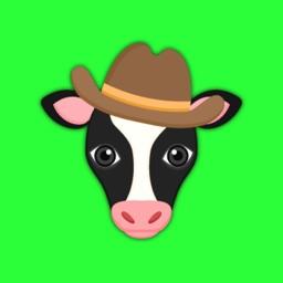 Black White Cow Emoji