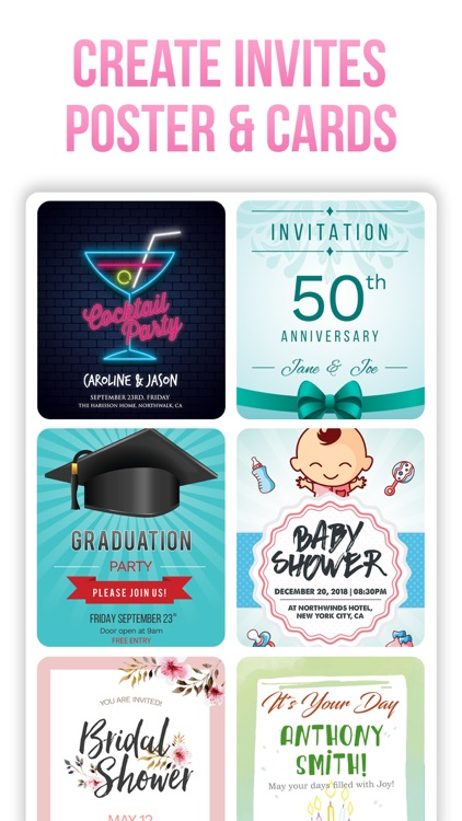 Invitation Maker- Invite Maker screenshot-3