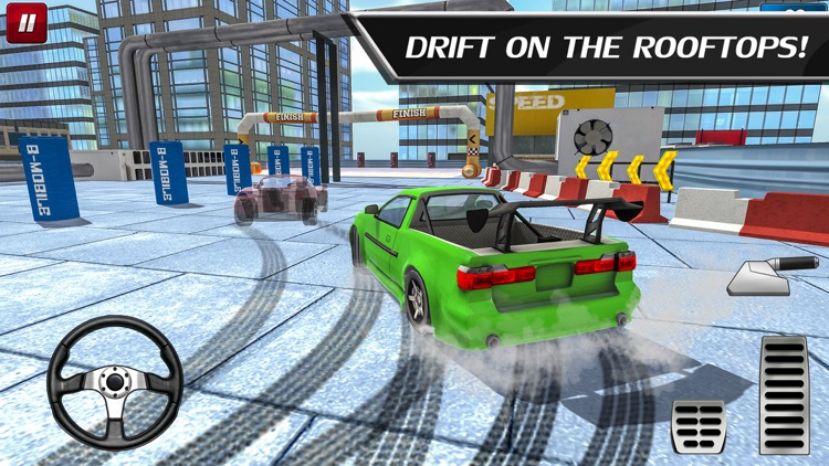 Car Drift Duels: Roof Racing