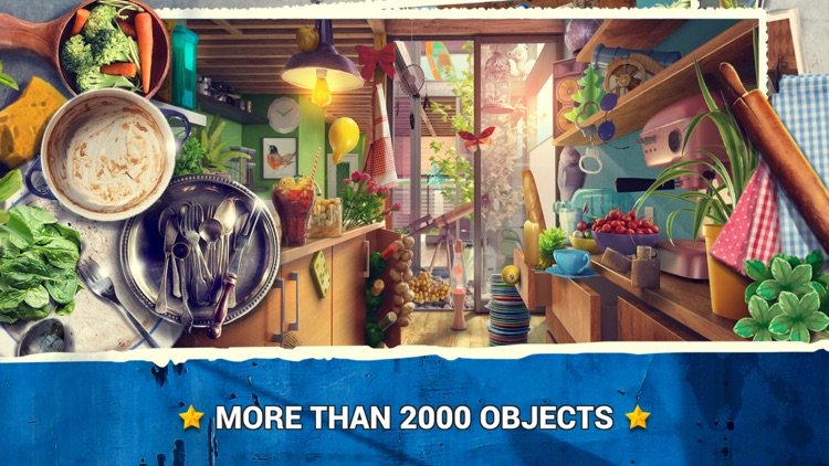 Hidden Objects Messy Kitchen