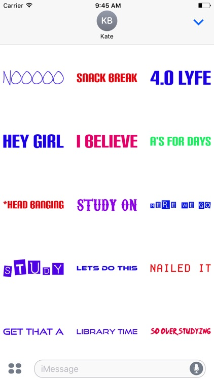 Study Time Sticker Pack