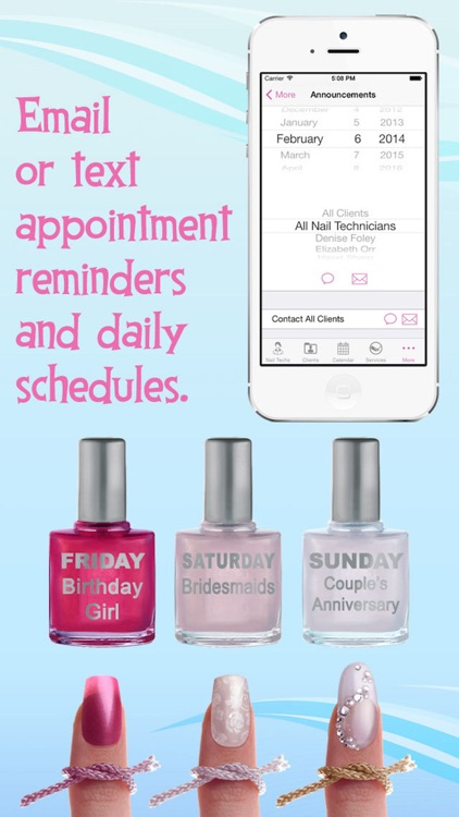 eNails - Nail salon appointment schedule calender screenshot-3