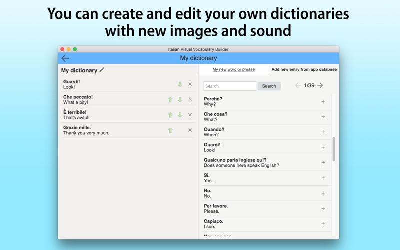 Italian Vocabulary Builder screenshot 5