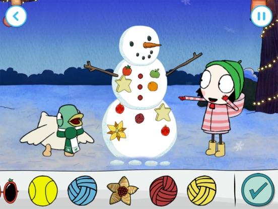 Sarah & Duck: Build a Snowman screenshot 7
