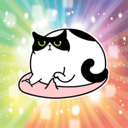 Fat Lazy Cat - Fx Sticker