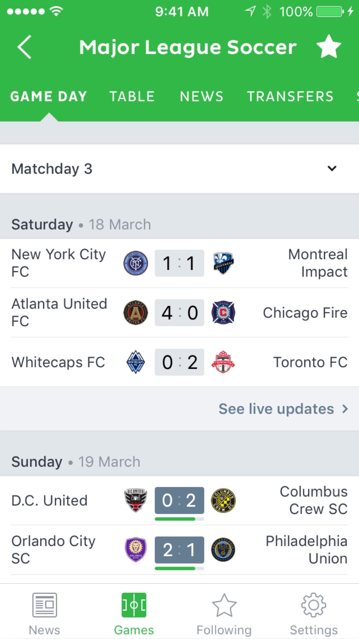 Onefootball Soccer News Screenshot