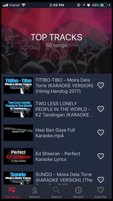 Screen Shot Karaoke 2018 - Sing & Record 1