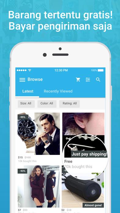 Screenshot for Wish - Shopping Made Fun in Indonesia App Store