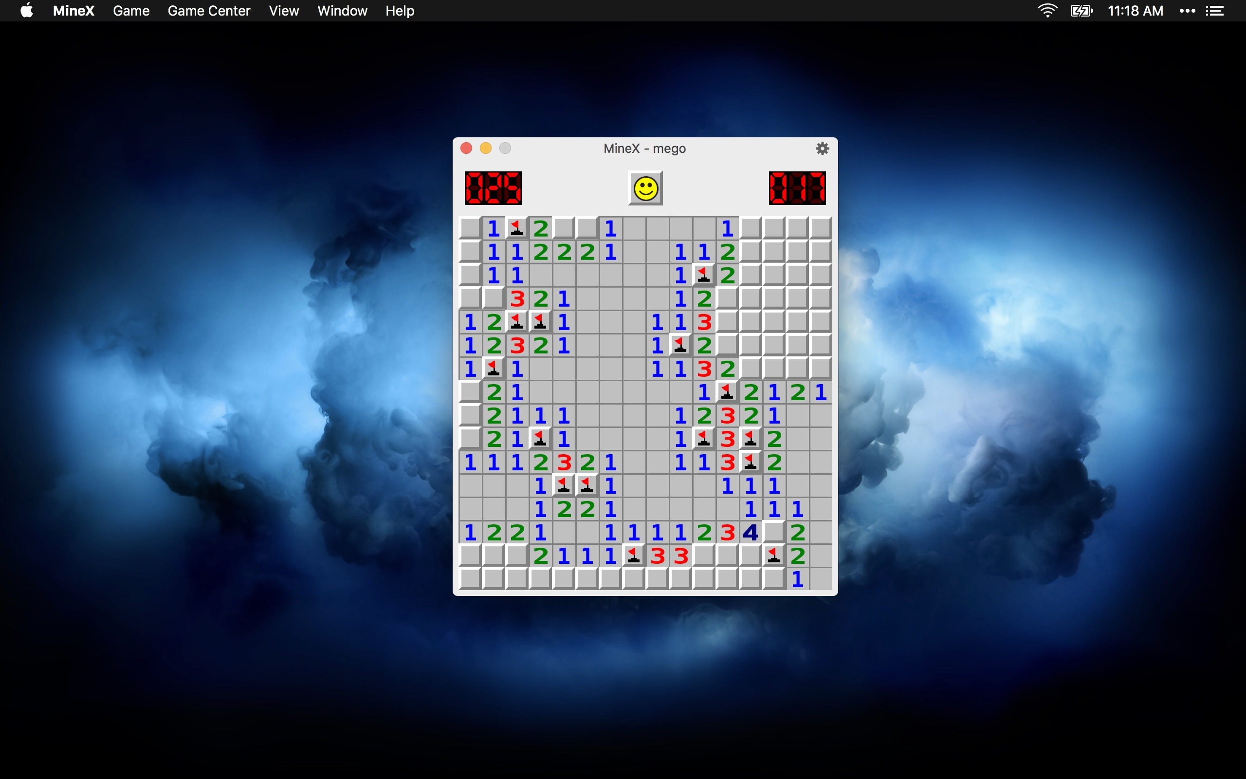 Screenshot do app MineX (Minesweeper)