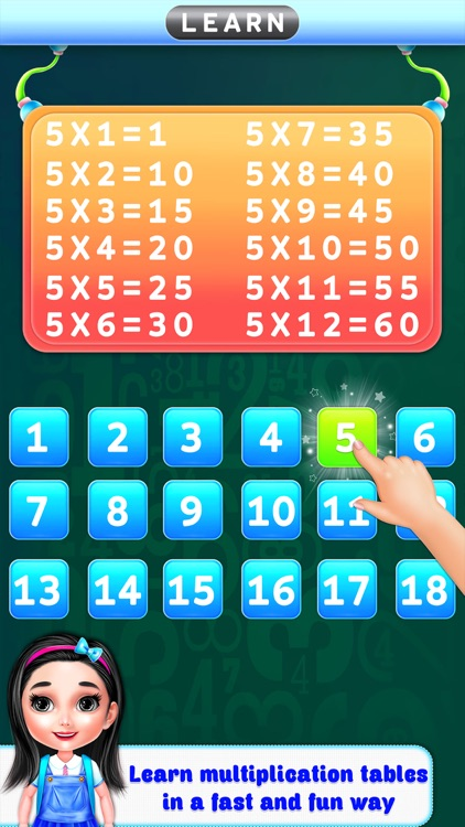 Multiplication Table Learning