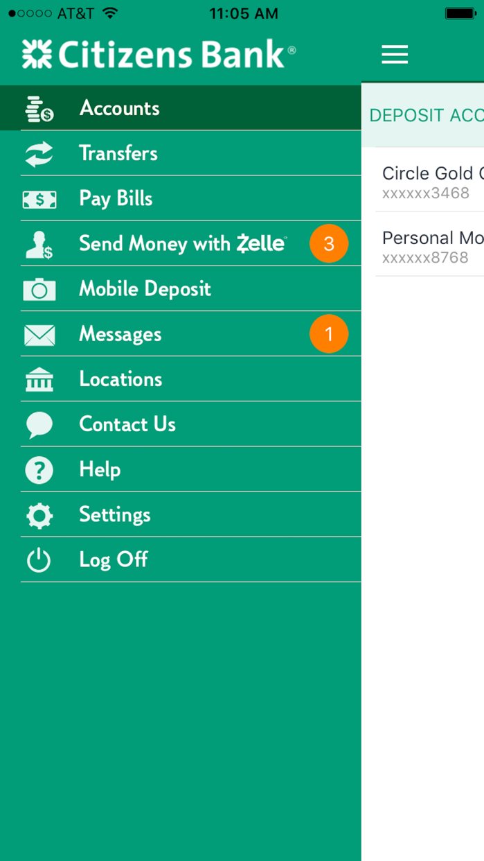 Citizens Bank Mobile Banking Screenshot