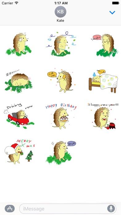 Happy Life Of Hedgehog Sticker screenshot 3